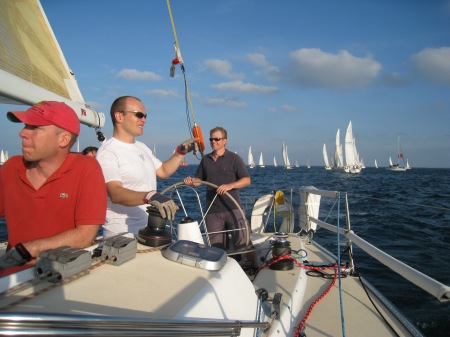 Racing the Valkyrie J120, Tom Trimmer, Mike Lovatt and Jon Martin.