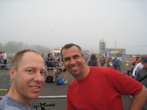 Wayne and I before the Cohasset Triathlon