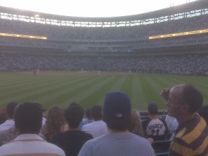 From the bleachers at US Cellular