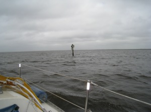 Channel Marker on the ICW, 3rd day