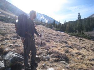 Jeff Lemaster in front of Mount Belford