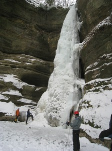 "Ice climb ""Wildcat"" at Starved Rock"
