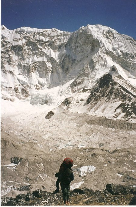 Trekking in the Himalayas near Everest base camp