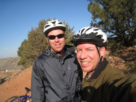 Mountain biking Matthew/Winter Park with my friend Pete who lives out there now - lucky bastard