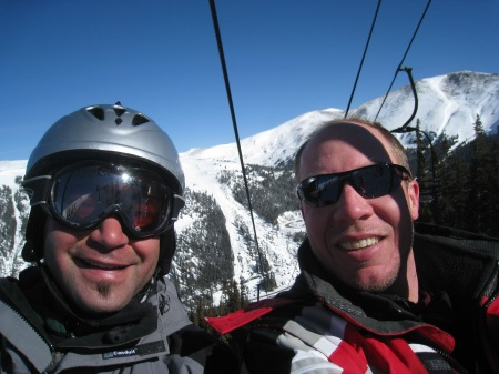 Skiing Breck with Ryan Weaver, in from Chicago for the weekend