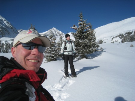 Backcountry snowshoeing and telemark skiing