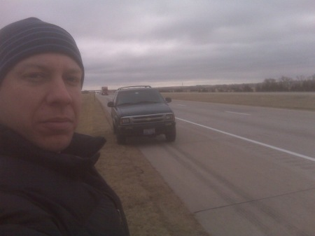 Out of gas and cold in Nebraska, I-70