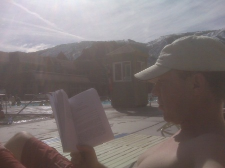 Hanging out at the Glenwood Springs pool, late February