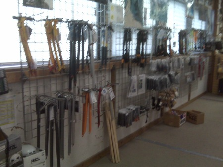 Incredible Ice Axe selection at Neptune Mountaineering in Boulder