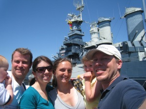 In Front of the USS North Carolina