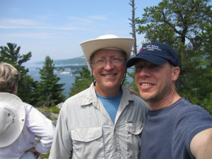 Dad and I on top of the mountain